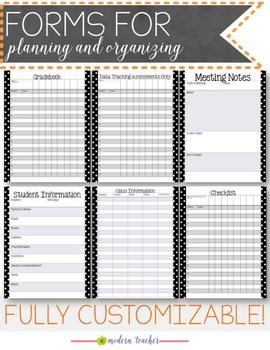 Teacher Binder and Planner Editable :: Free Updates - Polka Dot Theme