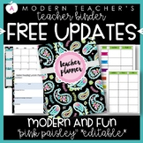 Teacher Binder and Planner Editable :: Free Updates (Pink