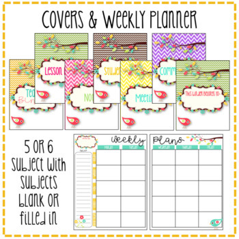 Teacher Binder & Planner Pack! *Chevron & Boho Bird Themed* {Editable!}