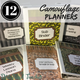 Teacher Planner 2019-2020 Camo Male Teacher Planner Binder Covers