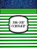 Teacher Planner 2019-2020 Editable Green Navy Nautical Binder Covers
