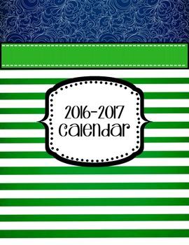 Teacher Planner 2019-2020 Editable Green Navy Nautical Binder Covers