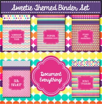 Teacher Binder Editable 2017-2018 Pink, Purple, Bright Covers