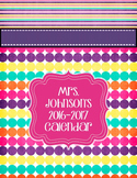 Teacher Planner 2019-2020 Editable Pink, Purple, Bright Binder Covers
