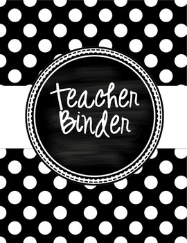 Teacher Binder - Polka Dot