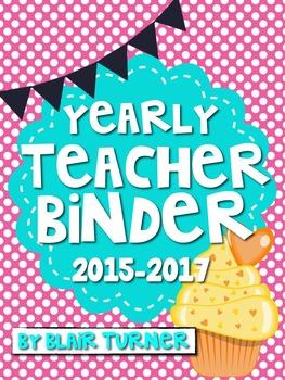 Teacher Binder - Polka Dots and Cupcakes Theme