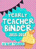 Teacher Binder - Polka Dots and Cupcakes Theme