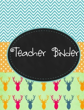 Teacher Binder Preview
