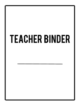 Teacher Binder Printable - FREE Updates