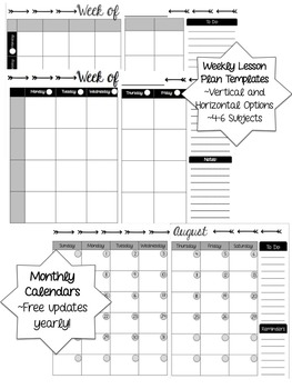 Teacher Binder - Printer Friendly - Free Updates!