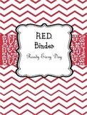 "Teacher Binder RED ""Ready Every Day"""