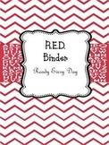 "Teacher Binder RED ""Ready Every Day"""