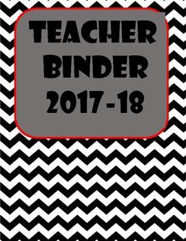 Teacher Binder (Red, Black, and White)