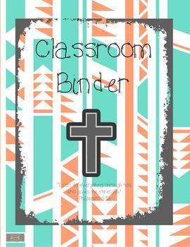 Teacher Binder/Planner-Religious, Cross, Catholic