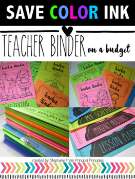 Teacher Binder- SAVE YOUR INK 2016-17