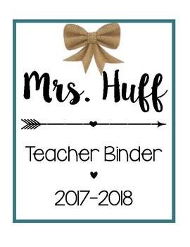 Teacher Binder Sheets [Teal]