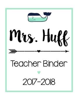 Teacher Binder Sheets [Mint Whale]