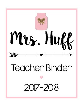 Teacher Binder Sheets [Pink]
