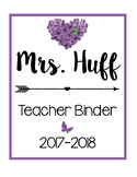 Teacher Binder Sheets [Purple]