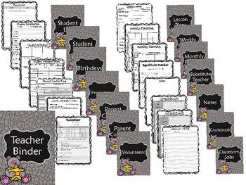 Editable Teacher Binder {Star Bear}