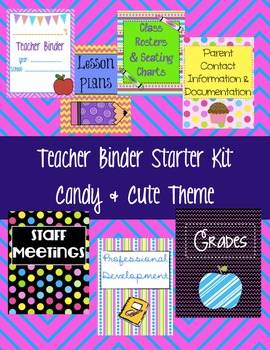 Teacher Binder Starter Kit {Candy & Cute Theme}