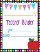 Teacher Binder Starter Kit {Rainbow Brights Theme}