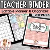 Editable Teacher Binder Polka Dot {Free Updates for Life}