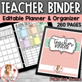 Teacher Binder Stripes and Chevron Theme Editable {Free Updates}