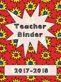 Teacher Binder - Super Hero Theme!
