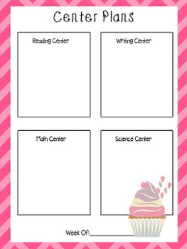 "Teacher Binder- ""Sweet Treats"" Theme"