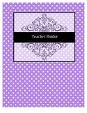 Editable Teacher Binder Tab Pages