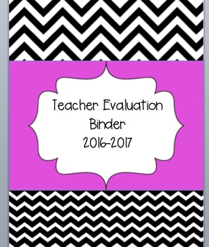 Teacher Binder- Teacher Evaluation based on OTES- Common C