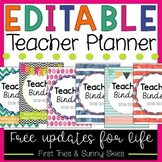 EDITABLE Teacher Planner, Calendar, and Binder - FREE Updates