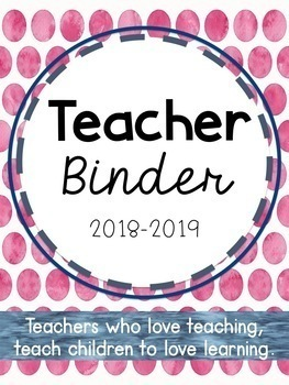 EDITABLE Teacher Planner, Calendar, and Binder - FREE Updates