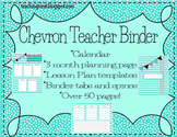 Teacher Binder ~ Teal Chevron