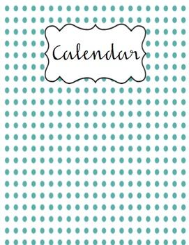 Teacher Binder- Teal 'n Pink cover pages