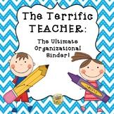 Teacher Binder- The Ultimate Organization Binder - Chevron Edition