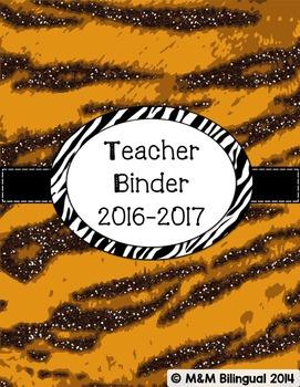 Teacher Binder - Tiger Themed Organization