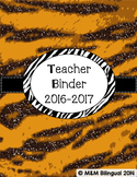 Teacher Binder - Tiger Themed Organization