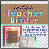 Editable Teacher Binder { Tribal Herringbone } Ultimate Te