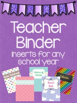 Teacher Binder Variety Pages