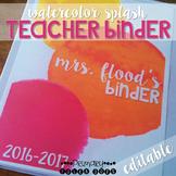 Teacher Binder - Watercolor