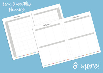 Teacher Binder / Weekly Lesson Planner A4