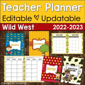 Editable Teacher Binder {Wild West}