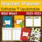 Teacher Planner 2019-2020 Editable -Teacher Binder 2019-2020 Wild West