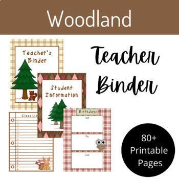 "Teacher Binder- ""Woodland"" Theme"
