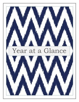Year at a Glance (2 color Variations)- Teacher Binder