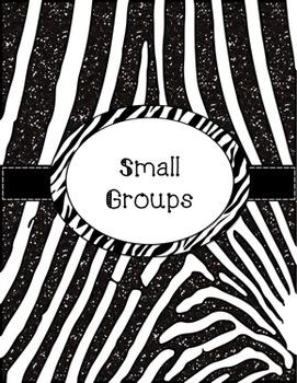 Teacher Binder - Zebra Themed Organization
