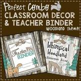Teacher Binder and Classroom Decor - Woodland