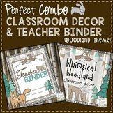 Teacher Binder and Classroom Decor - Woodland 2018-2019